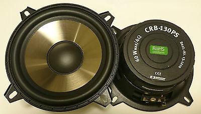 """1 Paar 13cm 5"""" Monacor Carpower CRB-130PS 130mm DIN Bass Subwoofer NEU"""