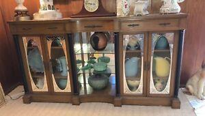 Dark Wood Mirrored Credenza : Mirrored buffet ebay