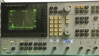 Hewlett Packard 3562a Dynamic Signal Analyzer With Calibration