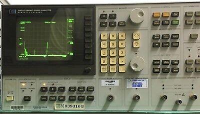 Hewlett Packard 3562a Dynamic Signal Analyzer With Calibration