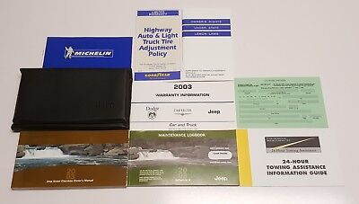2003 JEEP GRAND CHEROKEE OWNERS MANUAL 4.7L 4.0 OVERLAND LIMITED LAREDO 4WD