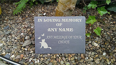 Pet Memorial Personalised Engraved Natural Slate   Plaque Rememberance