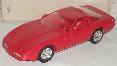 "Plastic Promo Car 1990 Chevrolet Corvette  Bright Red 7"""