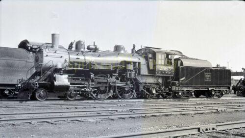 CBQ Burlington Route 4-4-2 Steam Locomotive #2565 - Vintage Railroad Negative