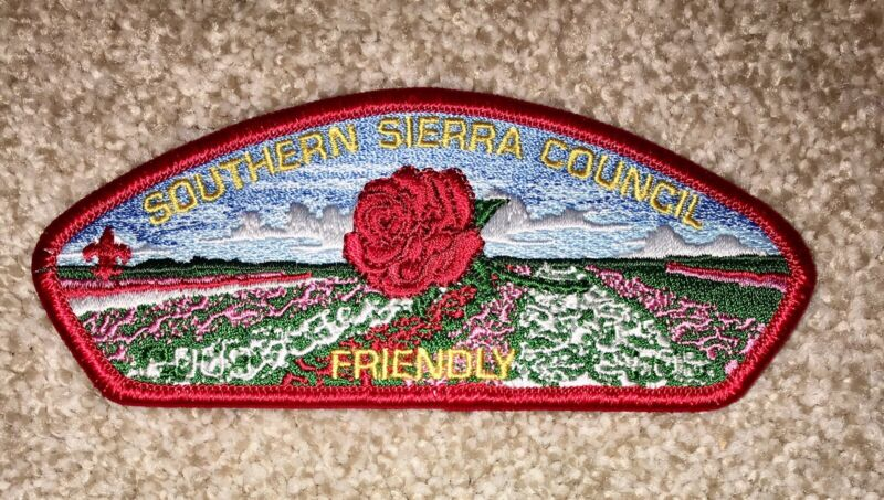 Boy Scout Southern Sierra Council FOS Friendly Red Csp / SAP Bakersfield CA Mint