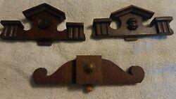 Antique Original Wood Mantle Wall Clock Crown Topper Finial 13