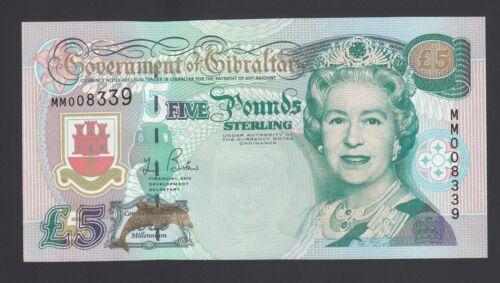 Gibraltar 5 Pounds  2000 UNC P. 29,  Banknotes, Uncirculated
