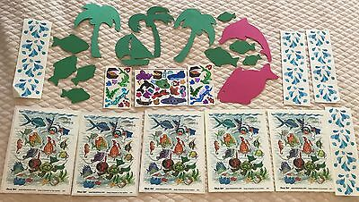SUZZY'S ZOO UNDER THE WATER BEACH THEME STICKERS PLUS DIE CUTS ** FREE SHIPPING
