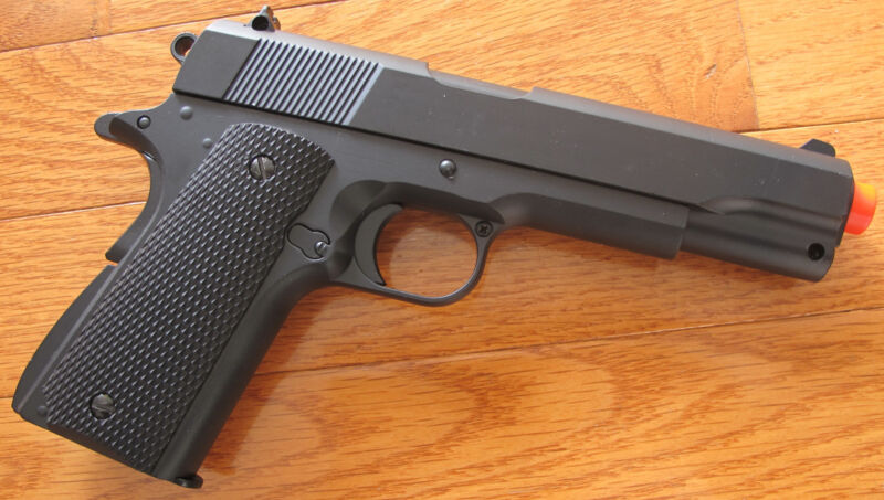Full Metal Body1911 Airsoft Spring Pistol Open Ejection Port, Shoot 250 FPS