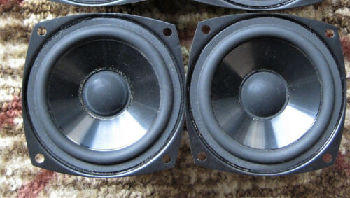 """Pair of CAMBRIDGE SOUNDWORKS 3.5"""" poly WOOFERs from MC100 LCR-MC500 - work well"""