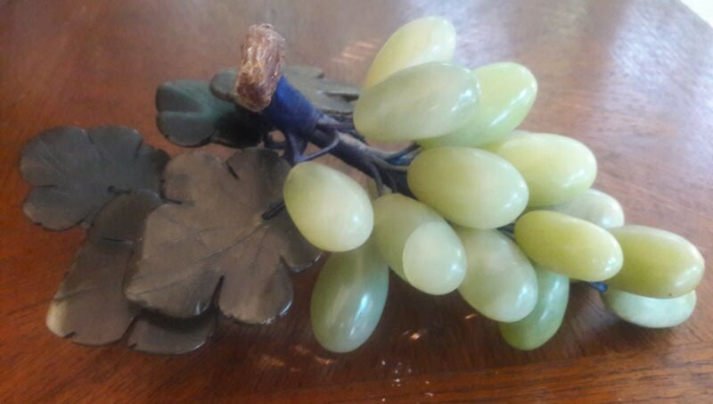 Art Glass Green Grape Cluster