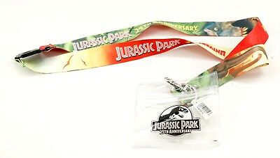 New Universal Studios Jurassic Park 25th Anniversary Lanyard Badge