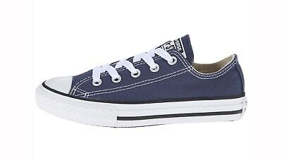 CONVERSE All Star Low Top Navy Blue Shoes Chucks Kids Youth Girls Sneakers 3J237