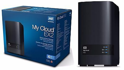 WD 6TB My Cloud EX2 Network Attached Storage Hard Drives - NAS - WDBVKW0060JCH