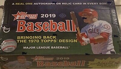 2019 TOPPS HERITAGE BASEBALL FACTORY SEALED HOBBY BOX, 24 PACKS/9 CARDS