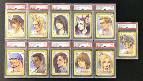 1999 FINAL FANTASY VIII Triple Triad Card Game Character Set 100-110 PSA 9 MINT