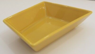 Arabia Finland Small Ceramic Serving Dish Bowl ABC Design Yellow