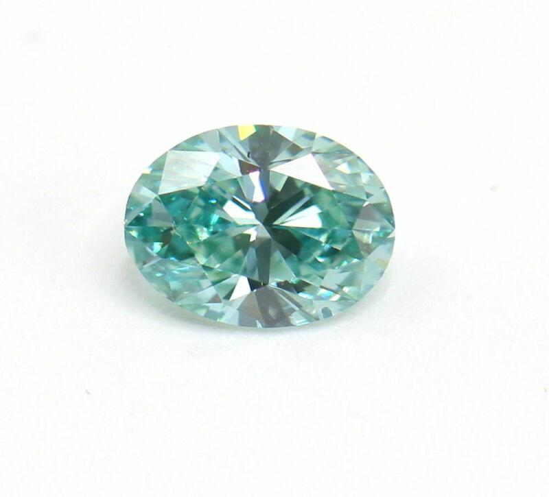 1.27 carat Fancy Vivid Blue Green Loose Natural Diamond VS1 Oval Cut Certified