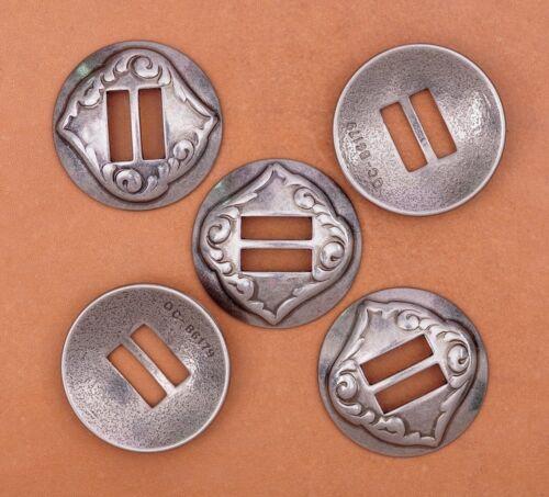 Nickel Screwback 125 10pkgstar Conchos 1-1//4inch