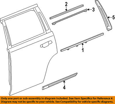 GM OEM Exterior-Rear-Applique Window Trim Left 84263146