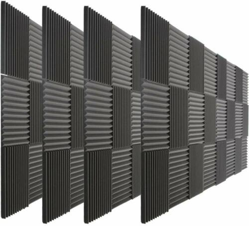 """96 Pack Acoustic Wedge Studio Soundproofing Foam Wall Tiles 12"""" X 12"""" X 1"""" USA"""