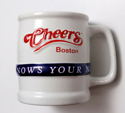CHEERS Bar Boston Coffee Mug Cup Cheers TV Show Where Everybody Knows Your Name