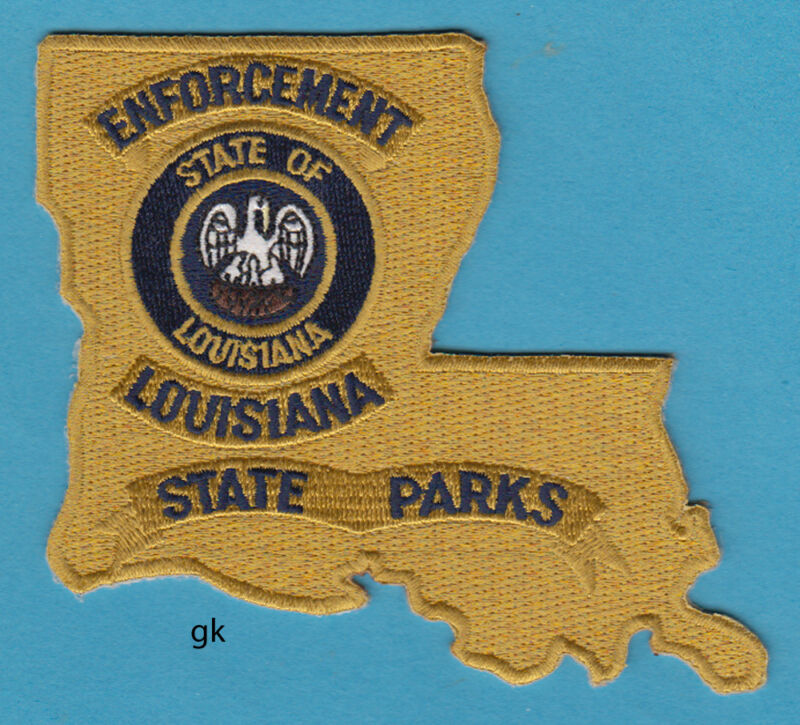 LOUISIANA STATE PARKS ENFORCEMENT STATE SHAPE POLICE SHOULDER PATCH