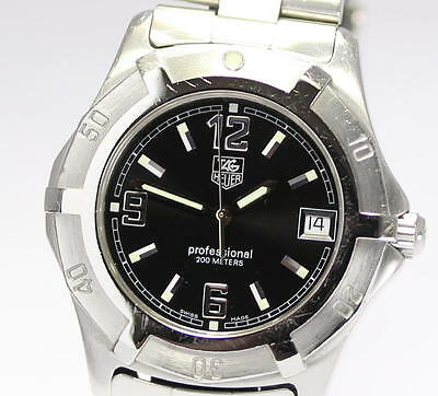TAG HEUER Men's Wrist DIVING WATCH 200M WN1110 Professional Quartz_240604
