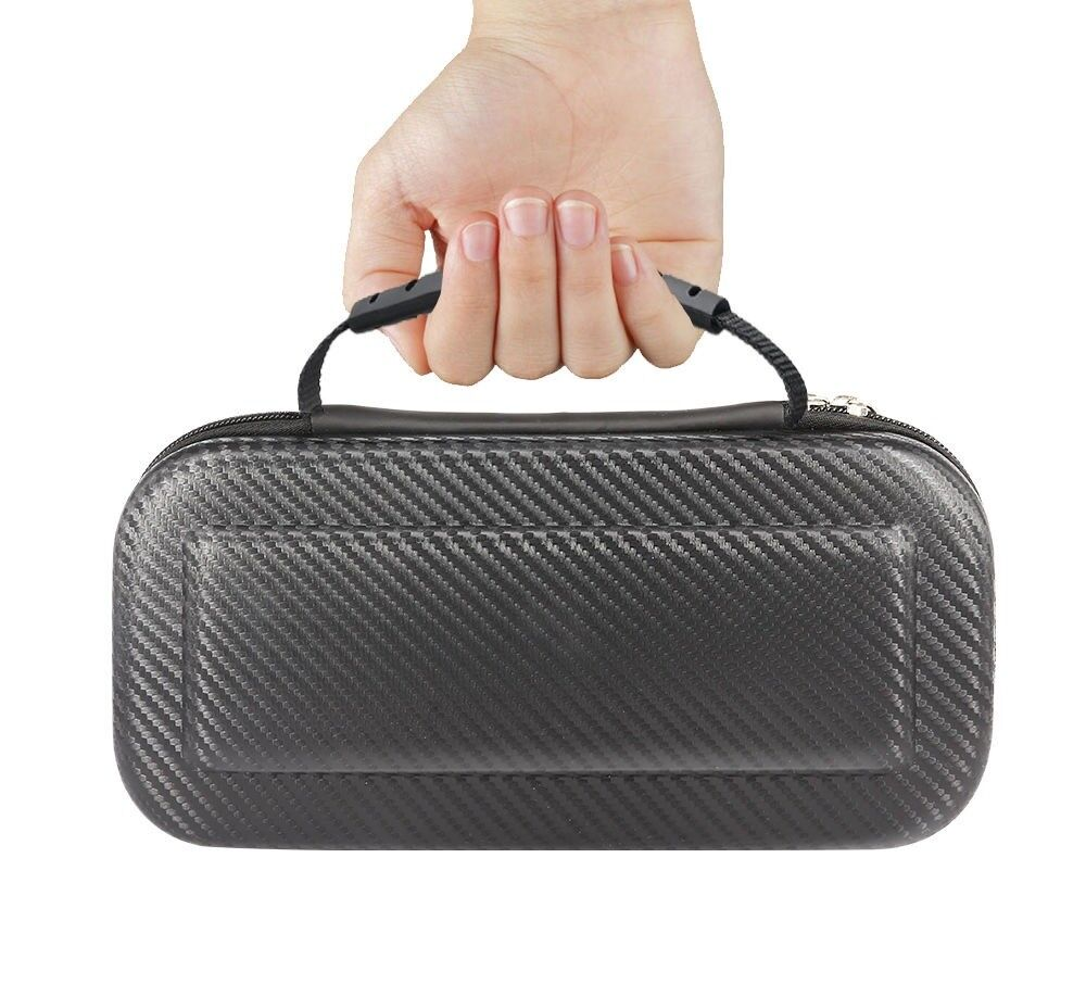 Nintendo Switch Portable Carrying Case Non-Slip Handle Travel Pouch Carbon Fiber Bags, Skins & Travel Cases