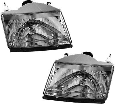 NEW Headlights Headlamps Lights Lamps Pair Set for 01-10 Mazda Pickup Truck