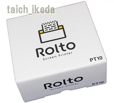 Rolto iPhone Screen Printer by King Jim Mobile wifi mini printer PT10 japan new