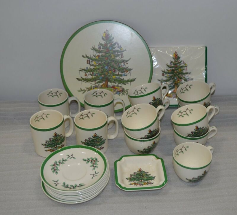 New Spode Christmas Tree Assorted Dinnerware Set