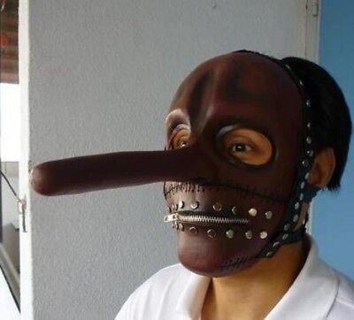 Chris Halloween Costume (Chris Fehn Latex MASK RED Slipknot Halloween Costume)