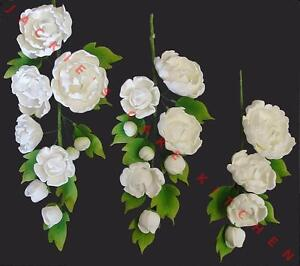 sugar flower wedding cake toppers white or ivory peony sugar flower spray bouquet wedding 20579