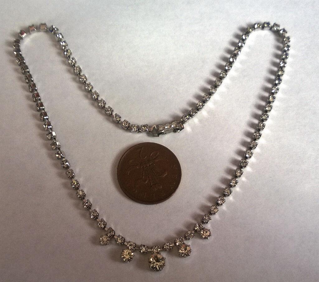1940's gemstone choker necklace
