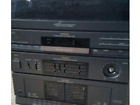 toshiba hi fi system with built in record player