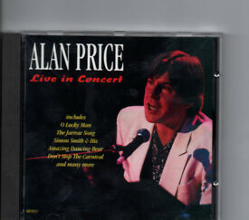 ALAN PRICE; LIVE IN CONCERT CD inc. O LUCKY MAN, POOR PEOPLE, CITY LIGHTS *L4 - A RARE ITEM