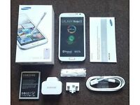 Samsung Galaxy Note 2 White in a Box with all the Accessories - SIM FREE UNLOCKED