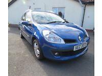 Renault Clio Dynamique Sport Tourer 5dr (2009) Blue, Low Mileage
