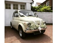 BEAUTIFUL 1969 FIAT 500 FOR HIRE - An Italian Classic Car for Weddings and Events