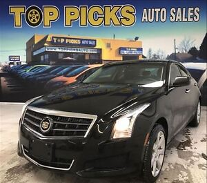 2013 Cadillac ATS ATS4, AWD, 2.0 LITER TURBO, LEATHER, SUNROOF!