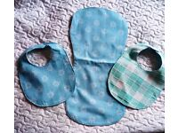 Handmade Baby Boys Bibs and Burp Cloth Set