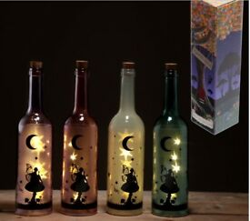 LED Wine Bottle Fairt light-purple, pink, blue & white BNIB