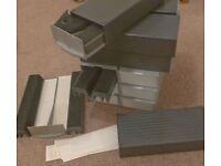 12 ~ 35mm Kodak slide magazines ~ 2 Grey`s in colour