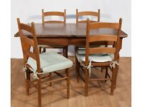 M&S Home Pine table & 4 Chairs with Cushions