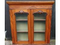 Victorian mahogany glazed door bookcase