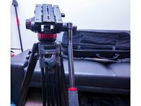 Manfrotto MVH502A M Size Pro Video Head 75mm Bowl + E-Image AT7402A tripod payload 40kg