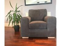 Brand New DFS Grey Pizzazz Armchair