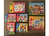 ORCHARD TOYS 7x Pre-school Children's Games (some pieces missing)