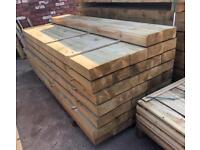 🍂 Pressure Treated Wooden/ Timber Railway Sleepers ~ New